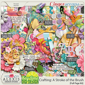 Crafting: A Stroke of the Brush Page Kit by Alexis Design Studio and Key Lime Digi Design