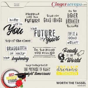Worth The Tassel Word Arts by JB Studio