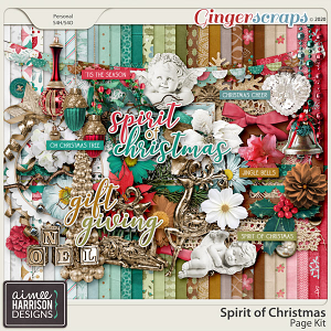 Spirit of Christmas Page Kit by Aimee Harrison