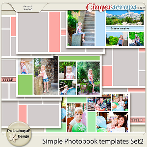 Simple Photobook templates Set 2