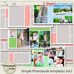 Simple Photobook templates Set 2