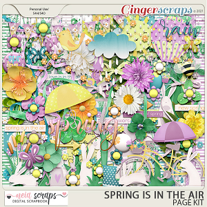 Spring is in the Air - Page Kit - by Neia Scraps