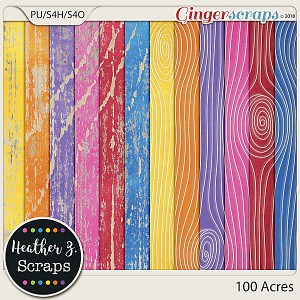 100 Acres WEATHERED WOOD by Heather Z Scraps