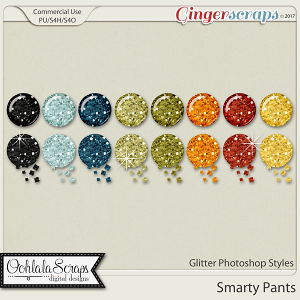 Smarty Pants CU Glitter Photoshop Styles