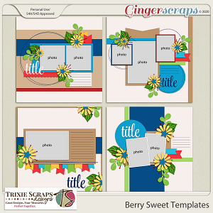 Berry Sweet Templates by Trixie Scraps Designs