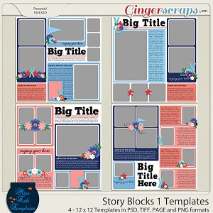 Story Blocks 1 Templates by Miss Fish