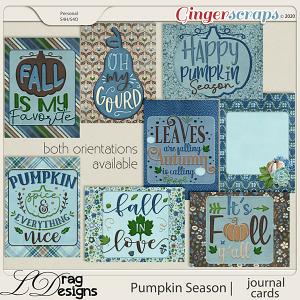 Pumpkin Season: Journal Cards by LDragDesigns