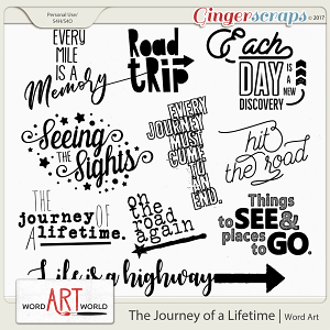 The Journey of a Lifetime Word Art
