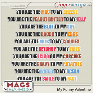 My Punny Valentine ANALOGY PHRASES by MagsGraphics
