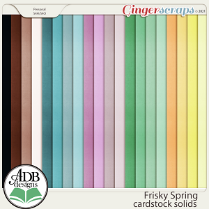 Frisky Spring Solid Papers by ADB Designs