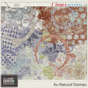 Au Natural Stamps by Aimee Harrison