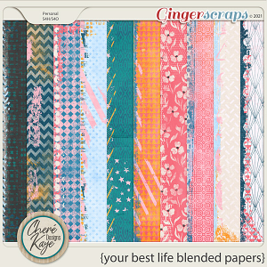Your Best Life Blended Papers by Chere Kaye Designs