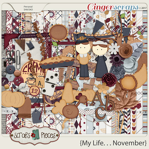 My Life - November Kit by Scraps N Pieces