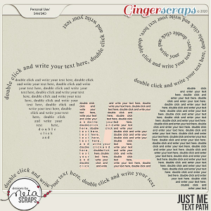 Just Me - Text Path - by Neia Scraps