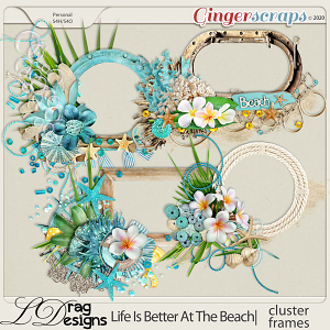 Life Is Better At The Beach: Cluster Frames by LDragDesigns