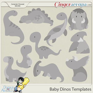 Doodles By Americo: Baby Dinos Templates