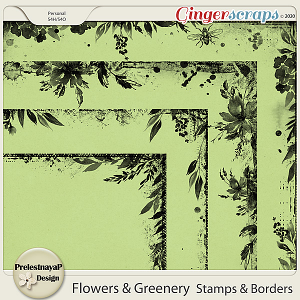Flowers and Greenery Stamps & Borders