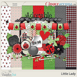 Little Lady Digital Scrapbook Kit By Dandelion Dust Designs