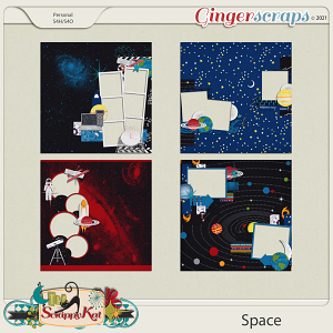 Space Quick Pages by The Scrappy Kat