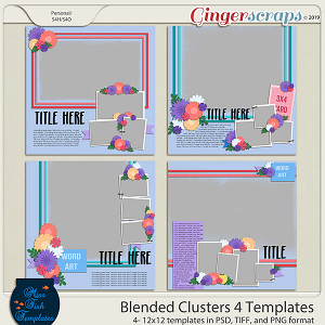 Blended Clusters 4 Templates by Miss Fish