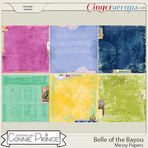 Belle of the Bayou - Messy Papers by Connie Prince