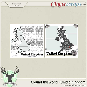 Around the World Countries: United Kingdom by Dear Friends Designs