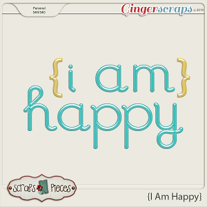 I Am Happy Alpha by Scraps N Pieces
