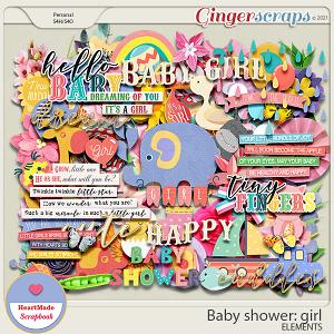 Baby shower: girl - elements
