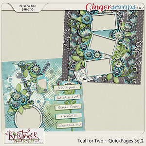 Teal for Two QuickPages Set 2