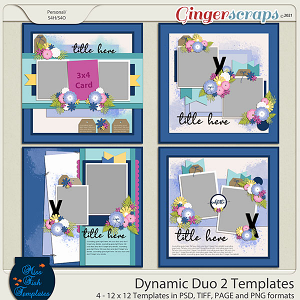 Dynamic Duo 2 Templates by Miss Fish