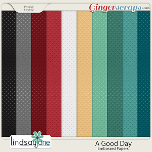A Good Day Embossed Papers by Lindsay Jane
