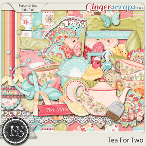 Tea For Two Digital Scrapbooking Kit