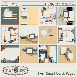 I Am Smart Quick Pages by Scraps N Pieces