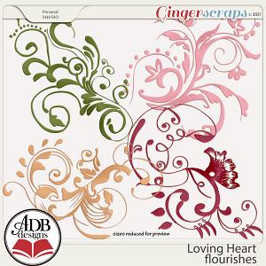 Loving Heart Flourishes by ADB Designs
