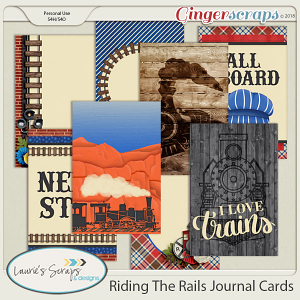 Riding The Rails Journal Cards