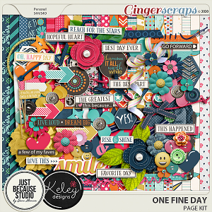 One Fine Day Page Kit by JB Studio and Kelley Designs