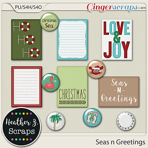 Seas n Greetings JOURNAL CARDS & FLAIRS by Heather Z Scraps
