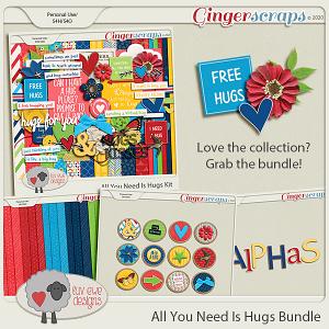 All You Need Is Hugs Bundle by Luv Ewe Designs