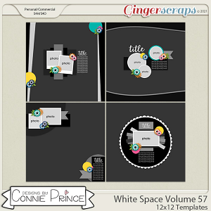 White Space Volume 57 - 12x12 Temps (CU Ok) by Connie Prince