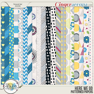 Here We Go - Patterned Papers - by Neia Scraps
