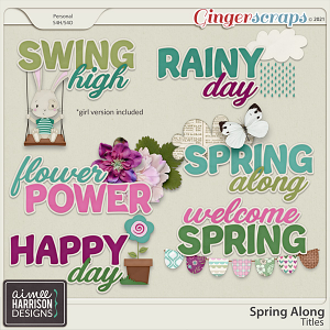 Spring Along Titles by Aimee Harrison