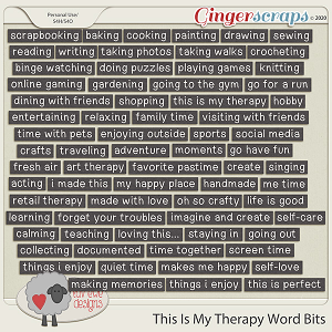 This Is My Therapy Word Bits by Luv Ewe Designs