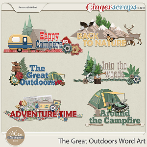 The Great Outdoors Word Art by JoCee Designs