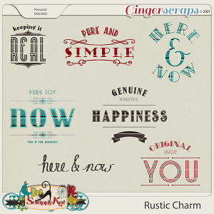 Rustic Charm Word Art by The Scrappy Kat