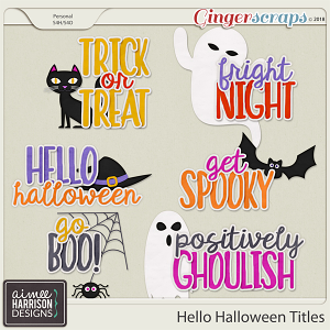 Hello Halloween Titles by Aimee Harrison