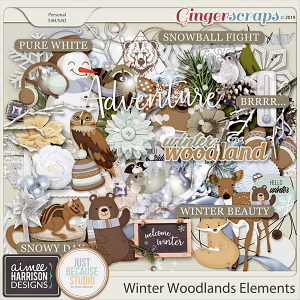 Winter Woodlands Elements Pack by Aimee Harrison and JB Studio