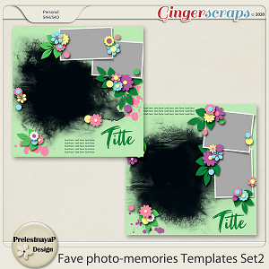 Fave photo-memories Templates Set2