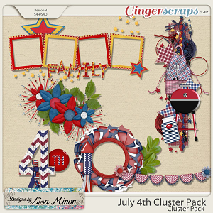 July 4th Cluster Pack from Designs by Lisa Minor