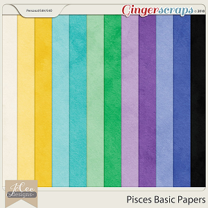 Pisces Basic Papers by JoCee Designs