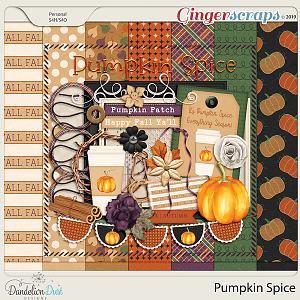 Pumpkin Spice Digital Scrapbook Kit by Dandelion Dust Designs
